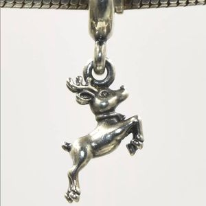 791194 Retired Pandora Flying Reindeer Charm
